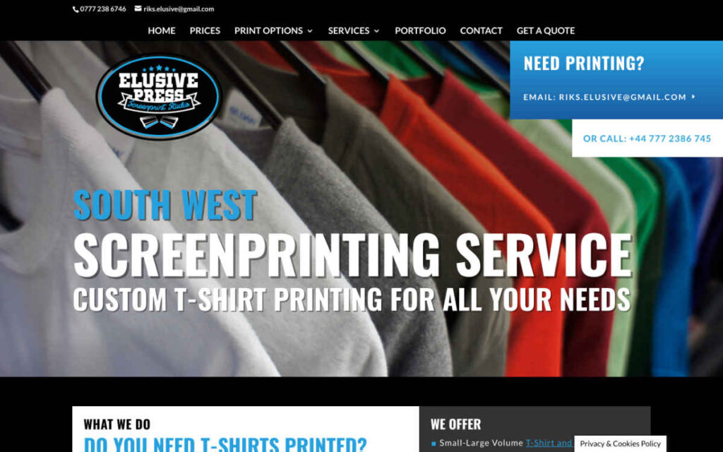 Elusive Press homepage refresh by Mark Mapstone Web Developer
